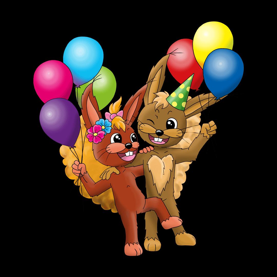 MINI-MAX Maskottchen, Party Luftballoons
