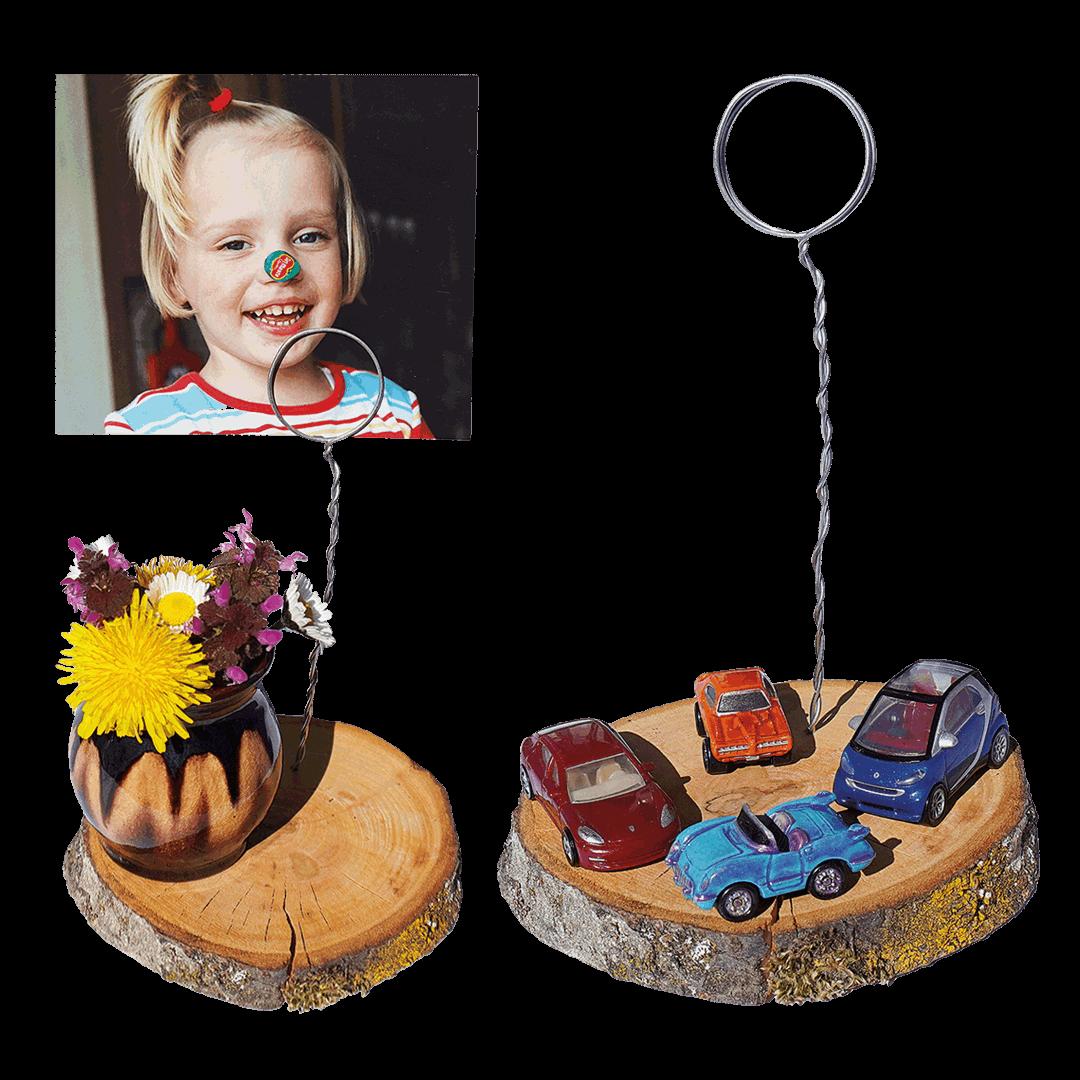 Bastelanleitung Fotohalter für Muttertag & Vatertag