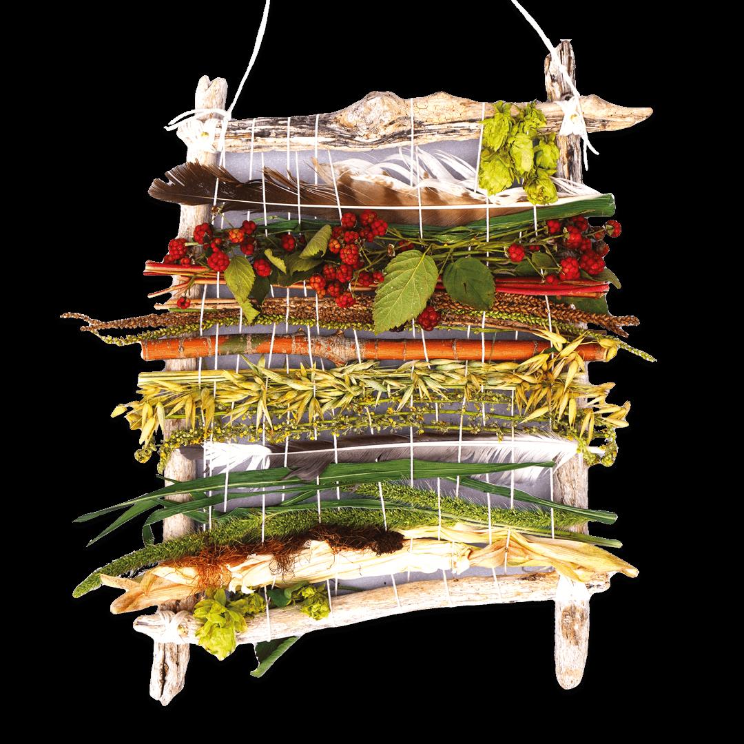 Bastelanleitung: Weben mit Schätzen aus der Natur